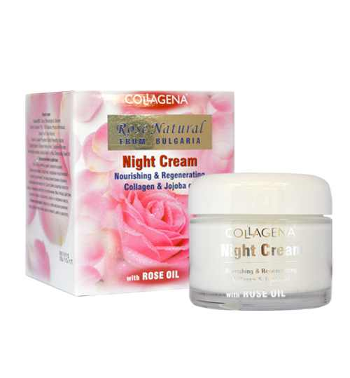 Нощен крем Collagena Rose Natural